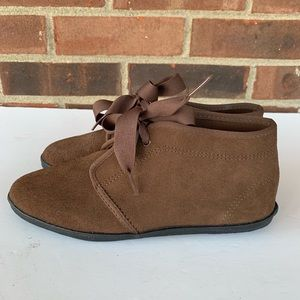 Keds brown suede ankle booties